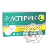 Аспирин-С шип.табл.400мг №10 Байер