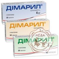 Димарил табл. 2мг №30 КМП